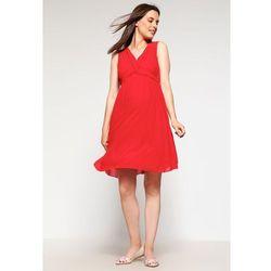 MAMALICIOUS MLCALLA Sukienka letnia pompeian red z kategorii sukienki ciążowe