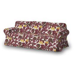 Dekoria  pokrowiec na sofę ektorp 3-osobową, rozkładaną stary model, żółto-brązowe kwiaty, sofa ektorp 3-osobowa rozkładana, wyprzedaż do -30%