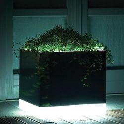 CUBOTTI donica podświetlana LED lakierowana - produkt z kategorii- Doniczki i podstawki