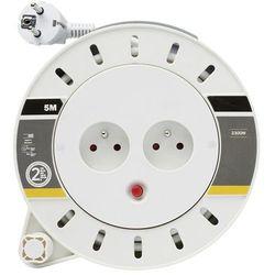 Przedłużacz bębnowy Diall 2 x 10 A 3 x 1 mm2 5 m, CSF05102