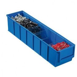 Plastikowy pojemnik do regału shelfpoj., 91 x 400 x 81 mm, niebieski marki Allit