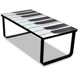Vidaxl szklany stolik kawowy z nadrukiem pianina