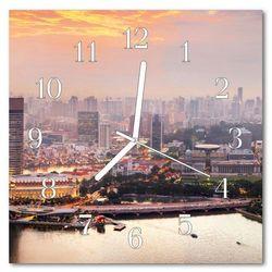 Zegar ścienny kwadrat Miasto