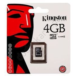 micro sdhc sdc4/4gbsp 4gb class 4 wyprodukowany przez Kingston