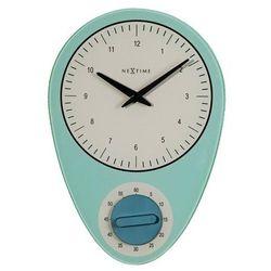 Zegar ścienny Hans niebieski, kolor niebieski