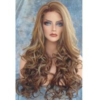 Fluffy Curly Side Parting Long Capless Synthetic Wig ()