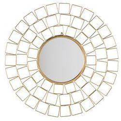 Beliani Lustro ścienne ø90 cm złote labrit (4260602376316)