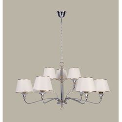 NESS chrom/mosiądz 9 zwis - żyrandol/lampa wisząca - sprawdź w wybranym sklepie