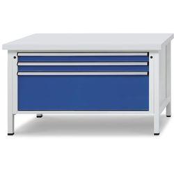 Unbekannt Stół warsztatowy z szufladami xl/xxl, szer. 1500 mm, 3 szuflady, blat z okładzin
