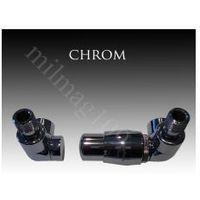 Zestaw zaworów grzejnikowych termostatycznych LUX prawy CHROM