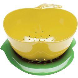 Durszlak z podstawką Jabłko ZAK! Designs żółto-zielony