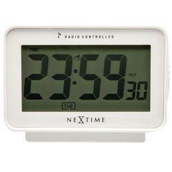 - zegar stojący easy alarm radio controlled - biały marki Nextime