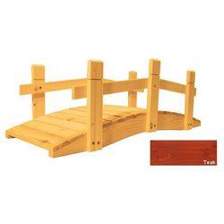 Mostek drewniany ogrodowy - 71 cm - TEAK