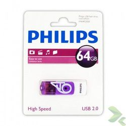 Philips Pendrive USB 2.0 64GB - Vivid Edition (fioletowy) (pendrive)