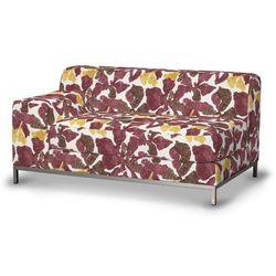 Dekoria  pokrowiec na sofę lewostronną kramfors 2-osobową, żółto-brązowe kwiaty, sofa kramfors, wyprzedaż do -30%