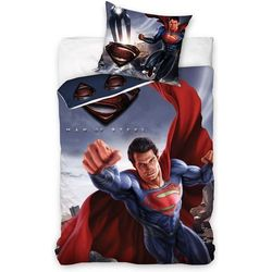 Bedtex Carbotex pościel dziecięca superman - man of steel, 140/200 cm, 70 x 90 cm