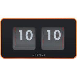 Nextime:: Zegar Stojący Flipped Pomarańczowy, kolor pomarańczowy