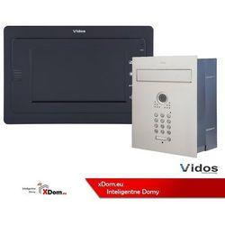 Zestaw jednorodzinny wideodomofonu . skrzynka na listy z wideodomofonem. monitor 7'' s561d-skp_m323b marki Vidos