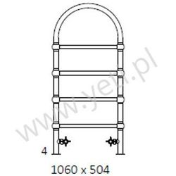 Grzejnik łazienkowy retro s 1060/504 ax marki Terma