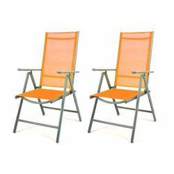 Komplet 2 x krzesła rozkładane – pomarańczowe