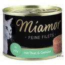 Miamor  feine filets w galarecie, 6 x 185 g - tuńczyk i krewetki (4000158750402)