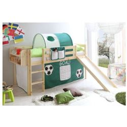 Ticaa łóżko ze zjeżdżalnią goal sosna naturalna goal, marki Ticaa kindermöbel