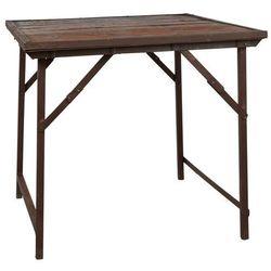 Ib Laursen - Stolik kawowy na metalowych nogach z drewnianym blatem Unique