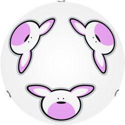 Lampa dla dziecka Królik - plafon Rubby biały/ chrom E27 60W 40cm