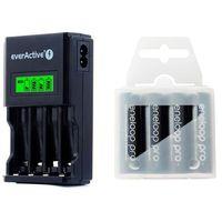 ładowarka everActive NC-450 Black + 4 x R6/AA Panasonic Eneloop Pro 2550 (box)
