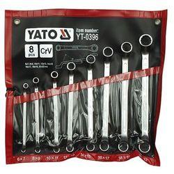 klucze oczkowe odgięte z polerowaną główką kpl 6-22 mm, 8 cz. marki Yato