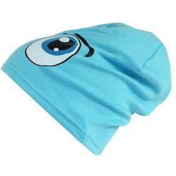 Czapka Dziecięca Bawełna Oczy beanie krasnal ciamajda - CD06-1, towar z kategorii: Czapki i nakrycia głowy