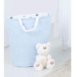 Mamo-tato dwustronny kosz na zabawki błękit / gwiazdki szare i niebieskie d