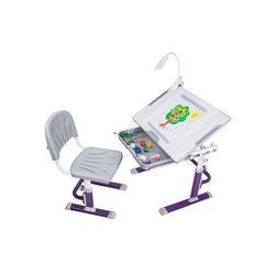 Ergonomiczne biurko z krzesełkiem - Cubby Karo Purple FunDesk, FD-CubbyKaro-purple