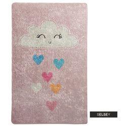 dywan do pokoju dziecięcego dinkley chmurka różowy 140x190 cm marki Selsey