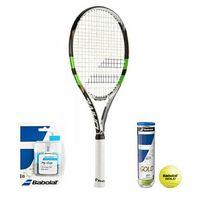 Babolat Pure Drive Team Wimbledon + piłki + owijki