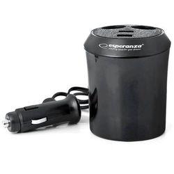 Esperanza Samochodowy rozdzielacz gniazda zapalniczki z 2 portami USB (EZ125) Szybka dostawa! Darmowy odbiór