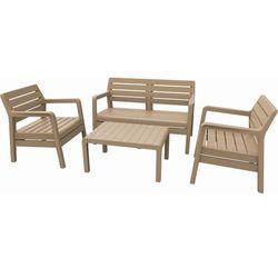 Zestaw mebli ogrodowych ALLIBERT Delano Lounge Set cappuccino - produkt z kategorii- Zestawy ogrodowe