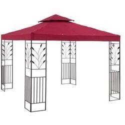 Pawilon ogrodowy - ornament - czerwone wino