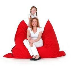 Beliani Xxl poducha pufa worek do siedzenia 140x180cm czerwony