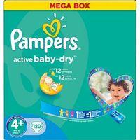 active baby dry pieluchy 4+ maxi+ 120szt pieluszki mega box karton od producenta Pampers