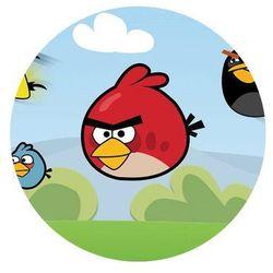Dekoracyjny opłatek tortowy Angry Birds - 20 cm - 5