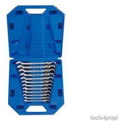 Zestaw kluczy płasko-oczkowych przegubowych z grzechotką jednokierunkową 12cz. 8 - 19mm 13012mr marki King