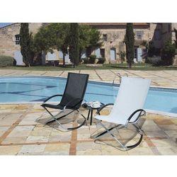 Krzesło ogrodowe czarne tekstylne składane CASTO