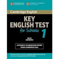 Cambridge KET for Schools 1 Student's Book (podręcznik) with Answers (ilość stron 150)
