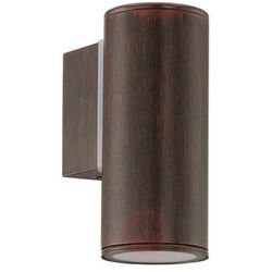Eglo Zewnętrzna lampa ścienna riga 94104 metalowa oprawa elewacyjna kinkiet do ogrodu ip44 tuba outdoor brąz antyczny (9002759941048)