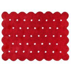 Dywan do prania w pralce: galleta - rojo/red (120x160 cm) od producenta Lorena canals