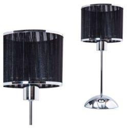 Stojąca LAMPA stołowa TORA 7540018 Spotlight abażurowa LAMPKA nocna chrom czarna
