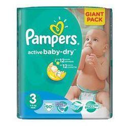 Pieluszki Pampers Active Baby-dry rozmiar 3 Midi, 90 szt. z kategorii Pieluchy jednorazowe