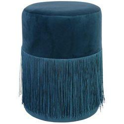 Pufa Plume Velvet niebieska - niebieski, kolor niebieski