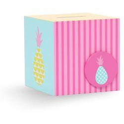 Penny Scallan Design, skarbonka, różowo-miętowe ananasy sprawdź szczegóły w Smyk